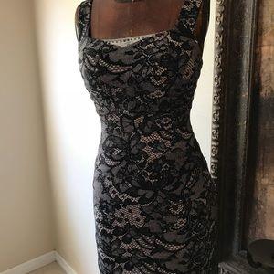 City New York Studio Black Dress Inset Bodycon